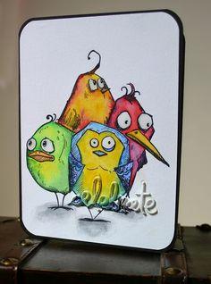 Tim Holtz Bird Crazy: Celebrate - Birthday card