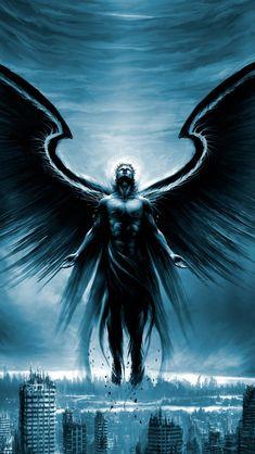 Image for Dark angel wallpaper for iphone Dark Angels, Angels And Demons, Fallen Angels, Dark Angel Wallpaper, Types Of Angels, Types Of Dragons, Dark Spirit, Wild Spirit, Angel Tattoo Designs