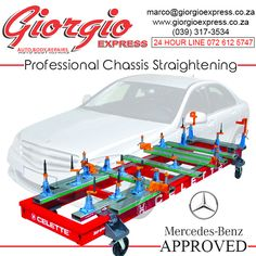 At Giorgio Express Auto Body Repairs we offer a professional chassis straightening service using only the latest Mercedes-Benz approved technology Latest Mercedes Benz, Auto Body Repair, Technology, Slogan, Car, Instagram, Tech, Automobile, Tecnologia
