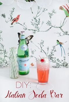 Italian soda bar my son will love this S.PELLEGRINO is his fav add a little whipped creme on top to make it extra special!
