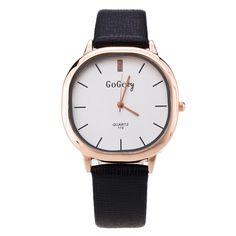 Luxury Gogoey Brand leather watches women ladies men fashion dress quartz wrist watches Relogio Feminino 119 #Affiliate