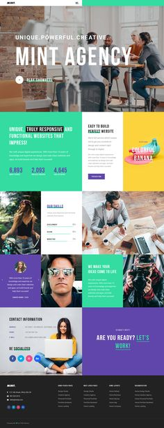 55 The Most Creative WordPress Themes of 2019 (UPDATED) - Wordpress Portfolio Theme - Ideas of Wordpress Portfolio Theme - Creative Agency Theme Wordpress Website Design, Web Design Agency, Web Layout, Website Layout, Website Ideas, Web Design Inspiration, Blog Design, Design Ideas, Design Design