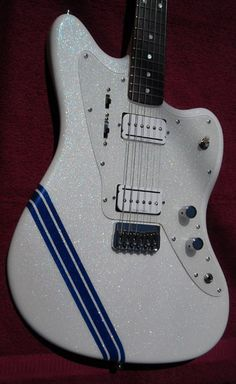 White Sparkle JM Crook Guitars