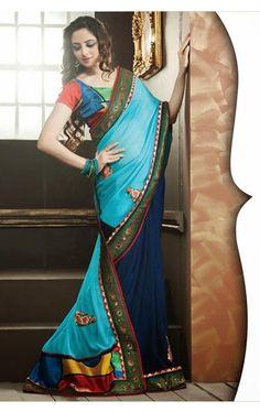 Picture of Charming blue Color Designer Saree