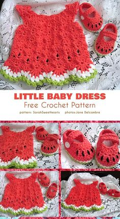 Crochet Baby Dress Free Pattern, Crochet Toddler Dress, Newborn Crochet Patterns, Baby Girl Patterns, Baby Clothes Patterns, Baby Girl Crochet, Crochet Baby Clothes, Crochet For Kids, Crochet Baby Dresses