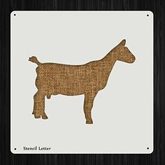 Goat Style 37, DIY Plastic Stencil Acrylic Mylar Reusable >>> Find out more about the great product at the image link.