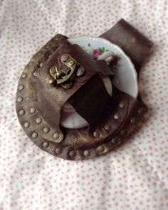 Never leave your tea cup behind... https://www.etsy.com/listing/263272581/steampunk-tea-cup-leather-holster-tea