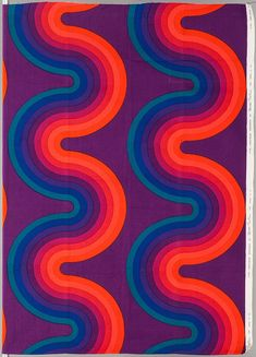 Verner Panton; 'Wave' Fabric Design for Mira-X, 1970s.