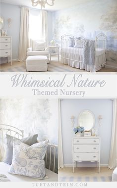 Tuft and Trim's darling baby boy nursery featuring our Erin Gates by Momeni Light Blue Charles Marlborough rug! Come take a peak at the nursery design concept for this classic baby boy nursery inspired by nature. Get inspired and shop the look!