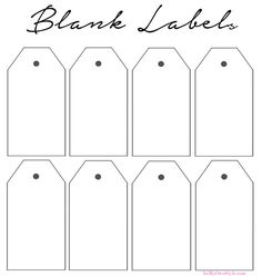 Blank labels to print