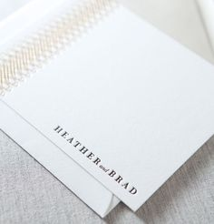 Belvedere Letterpress & Foil Note Card by Dauphine Press Available at Hayden Avery Fine Stationery in Austin, Texas