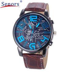 >> Click to Buy <<  Reloj 2017 New Design Bestselling Luxury Men's Leather Strap Analog Quartz Sports Wrist Watch Watches  17feb23     #Affiliate