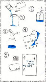 www.haciendoenbuenosaires.blogspot.com.es  TUTORIAL: Tinta para sellos casera!