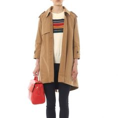 BAND OF OUTSIDERS -Blanket-lining trench coat -THE SHAPE OF THE SEASON