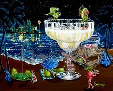 MG Limited Edition Wine & Spirits — Michael Godard Art Gallery & Store Godard Art, Duck Art, Wine Art, Beer Art, Wine And Spirits, Canvas Art Prints, Art World, My Favorite Color, Illusions