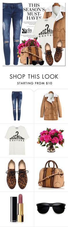 """""""Shein"""" by oshint ❤ liked on Polyvore featuring H&M, Moschino, New Growth Designs, Chanel, Sheinside and shein"""