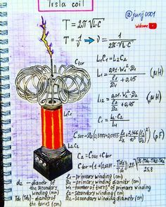 Vacuum Tube Tesla Coil - Tesla Generator Truth Revealed - People are worried about getting caught up in the Tesla generator scam, and I bet you are too. Engineering Notes, Engineering Science, Electronic Engineering, Physical Science, Mechanical Engineering, Electrical Engineering, Physics Concepts, Physics Formulas, Physics Notes