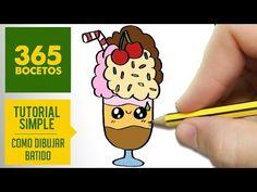 COMO DIBUJAR BATIDO KAWAII PASO A PASO - Dibujos kawaii faciles - How to draw a milkshake - YouTube