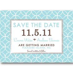 Mod Circles Save the Date Wedding or Bridal Shower Invitation or Announcement - PRINTABLE DIY Digital Design by Trinity St. Studio