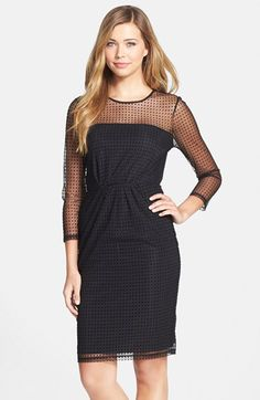 French Connection 'Mona' Dot Illusion Sheath Dress available at #Nordstrom