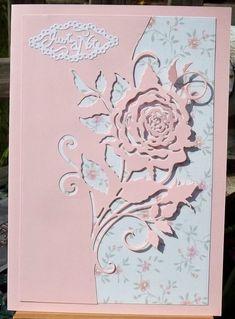 White Roses, Pink White, Pink Cards, Glitter Cards, White Glitter, Etsy Uk, Card Maker, Rose Design, Greeting Cards Handmade