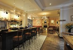 The Crooked Well Restaurant, London. Designed by Grapes Design.