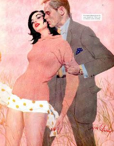 The Lady and the Landlord - Saturday Evening Post Leading Ladies, June 1957 Giclee Print by Coby Whitmore My Canvas, Canvas Art Prints, Painting Prints, Canvas Size, Paintings, Pulp Fiction, Mystery, Pin Up, Fashion Artwork