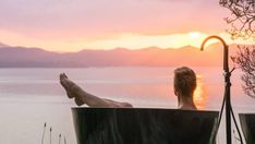 From overlooking our tallest mountain to a remote part of the Bay of Islands, New Zealand has some beautifully situated baths. Deer Farm, Tree Tent, House Tent, Bay Of Islands, Wild Weather, Air New Zealand, Travel Companies, Stunning View, Nice View