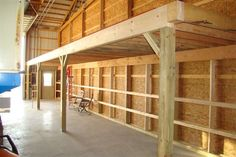 how to build a loft in a garage Garage Plans With Loft, Shed With Loft, Loft Plan, Garage Loft, Pole Barn House Plans, Pole Barn Homes, Garage Workshop, Metal Shop Building, Building Shelves