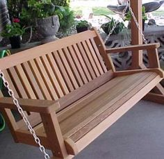 wooden most comfortable unique porch swings photo