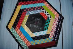 Chalkcloth Hexagon Placemat by quarksandwidgets on Etsy, $10.00