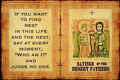 Sayings of the Dessert Fathers