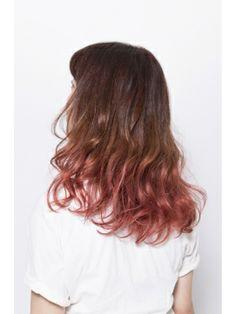 Alive Omotesando Omotesando ALIVE ALIVE [] pink ash color gradation ☆