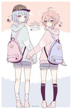 She have the same clothes,and      the backpack too