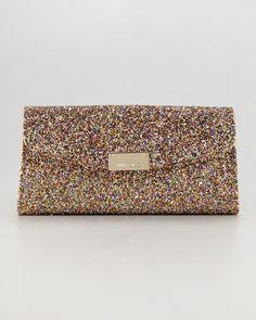 Jimmy Choo Riane Glitter Clutch Bag