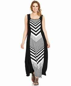 Love Squared Plus Size Sleeveless Striped Maxi Dress - Plus Size Maxi Dresses - Plus Sizes - Macy's