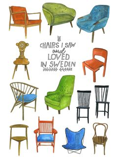 Lisa Congdon (glad to know I am not the only artist obsessed with chairs.)