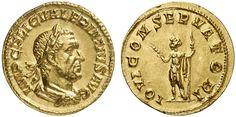 Imperial Rome AV Aureus struck circa 253/4AD Rome Mint Emperor Valerianus 253-60AD