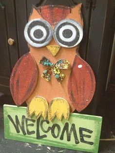 Tall wood craft owl