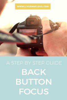 If you find yourself struggling to get tack sharp photos of moving subjects, then i have a little tip for you here today that might just help! It's called back button focus - and it's another way of focusing that is particularly good for action shots.  Now, I have to warn you ,it's pretty