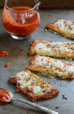 Cauliflower Crust Garlic Breadsticks | I made these tonight and they were really yummy.