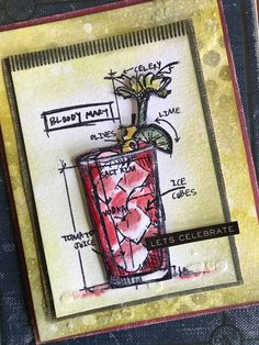 Stacy Hutchinson: Tim Holtz Cocktails Blueprint stamp set