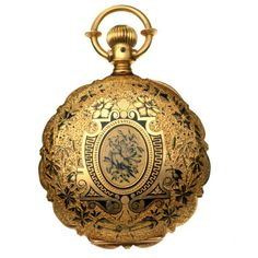 Waltham 18k Gold And Enamel Hunting Case Pocket Watch - American    c.1890  -  1stdibs.com
