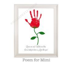 Gift For Mimi Mimis Birthday Personalized Handprint Kids To A Mothers Day