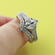 Vintage Engagement Ring with custom matching band.