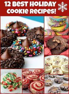 12 best holiday cookie recipes on the web.  Great ideas for holiday giving!