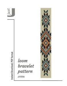 bead embroidery patterns on fabric Loom Bracelet Patterns, Bead Loom Bracelets, Bead Loom Patterns, Weaving Patterns, Jewelry Patterns, Mosaic Patterns, Color Patterns, Jewelry Ideas, Art Patterns