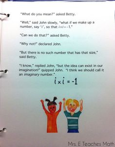 """Complex Numbers and Story Time - using """"story time"""" in high school  