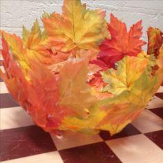 Schaal van herfstbladeren