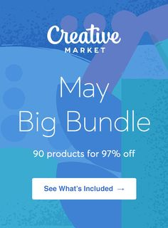 On the Creative Market Blog - May Big Bundle: Over $1,375 in Design Goods For Only $39!